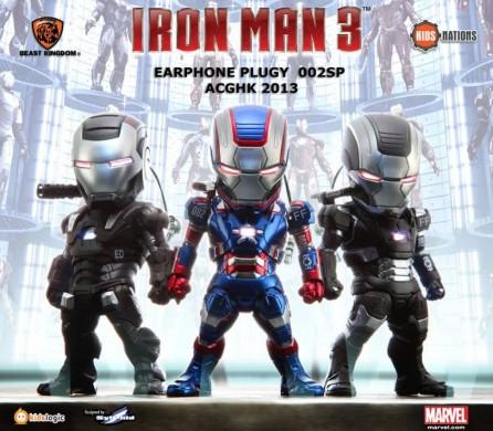 Kidslogic Iron Man 3 Earphone Plugy Series 002SP Set of 3
