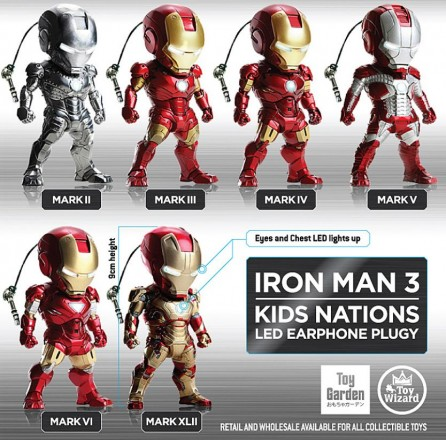 Kidslogic Iron Man 3 Earphone Plugy Series 001 Set of 6