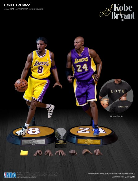 Enterbay 1/6th Scale Real Masterpiece: NBA Collection Kobe Bryant Figure Upgraded Re-Edition
