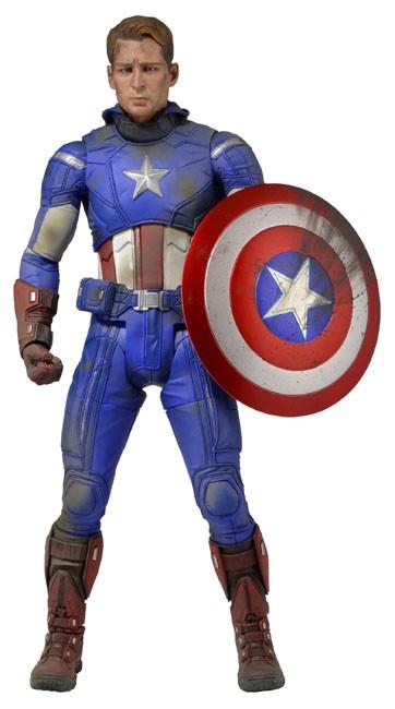 "Neca 18"" Battle Damaged Captain America Action Figure"