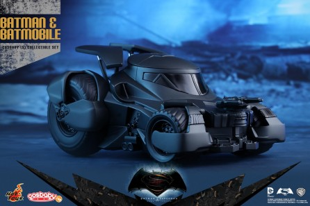 Hot Toys COSB228 Batman v Superman: Dawn of Justice Batman and Batmobile Cosbaby Collectible Set