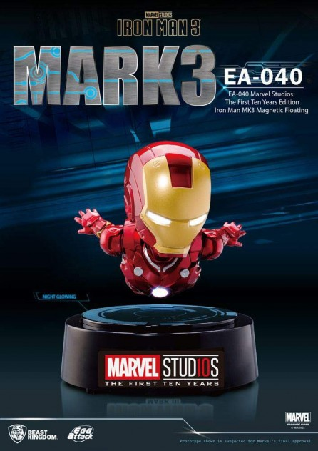 Egg Attack EA-040 Magnetic Floating Iron Man: Mark 3 (Metallic)