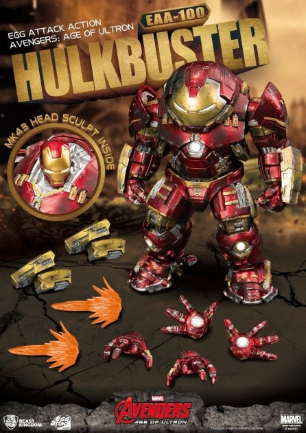 Beast Kingdom Egg Attack Action EAA-100 Avengers: Age of Ultron Hulkbuster