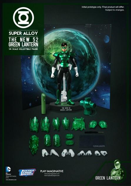 Super Alloy 1/6th Scale DC New 52 Green Lantern Diecast Figure