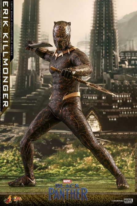 Hot Toys 1/6th Scale MMS471 Black Panther Erik Killmonger Collectible Figure