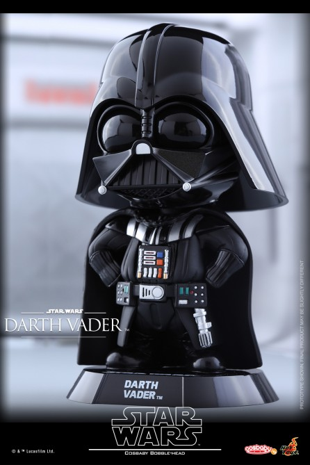 Hot Toys COSB327 Star Wars Darth Vader Cosbaby (S) Bobble-Head (Fists on Hips Pose)