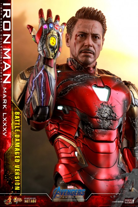 Hot Toys 1/6th Scale MMS543D33 Avengers: Endgame Iron Man Mark LXXXV (Battle Damaged Version) Diecast Figure