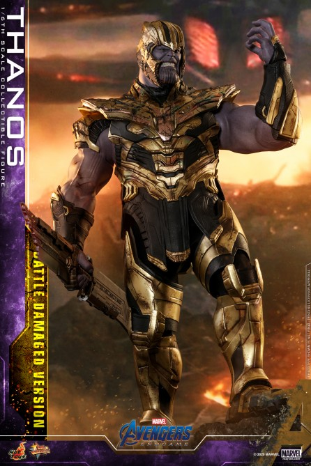 Hot Toys 1/6th Scale MMS564 Avengers: Endgame Thanos (Battle Damaged Version) Collectible Figure