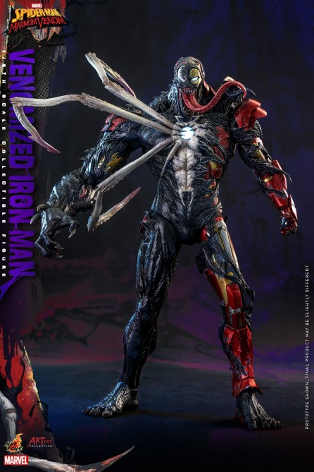 Hot Toys 1/6th Scale AC04 Marvel's Spider-Man: Maximum Venom Venomized Iron Man Collectible Figure
