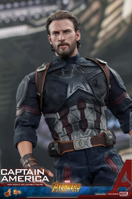 Hot Toys 1/6th Scale MMS480 Avengers: Infinity War Captain America Collectible Figure