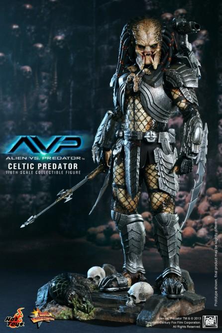 Hot Toys 1/6th Scale Alien vs Predators Celtic Predator Figure