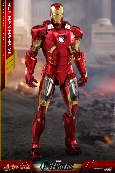 Hot Toys 1/6th Scale MMS500D27 The Avengers Iron Man Mark VII Diecast Figure