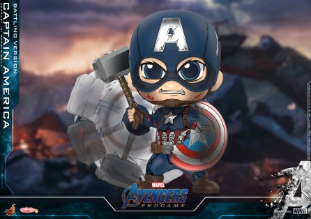 Hot Toys COSB645 Captain America (Battling Version) Cosbaby (S) Bobble-Head