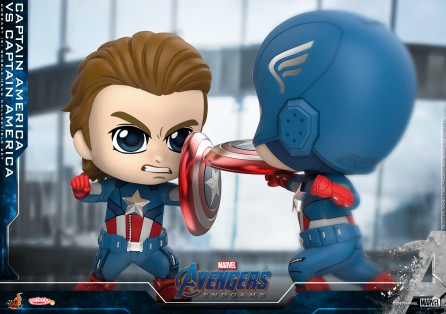 Hot Toys COSB658 Captain America VS Captain America Cosbaby (S) Bobble-Head Collectible Set