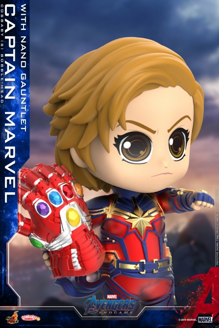 Hot Toys COSB680 Captain Marvel with Nano Gauntlet Cosbaby (S) Bobble-Head