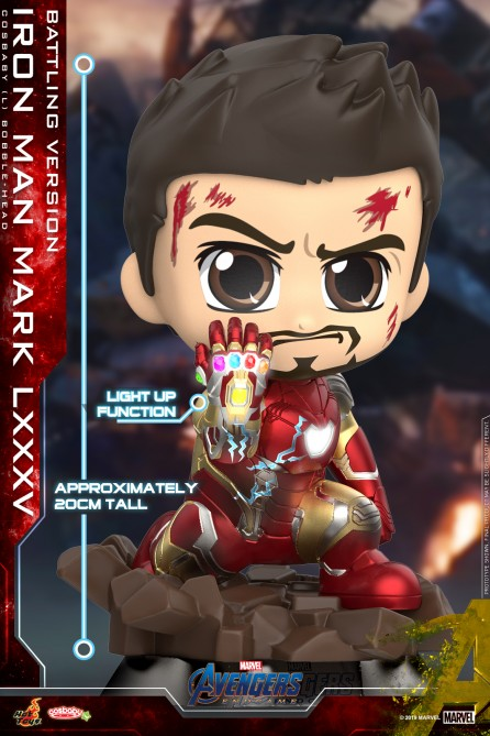 Hot Toys COSB679 Iron Man Mark LXXXV (Battling Version) Cosbaby (L) Bobble-Head