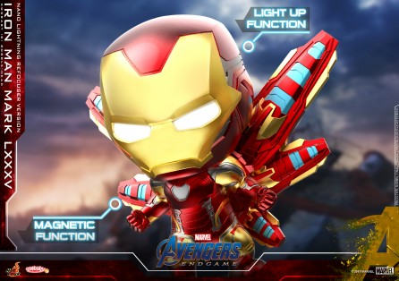 Hot Toys COSB648 Iron Man Mark LXXXV (Nano Lightning Refocuser Version) Cosbaby (S) Bobble-Head