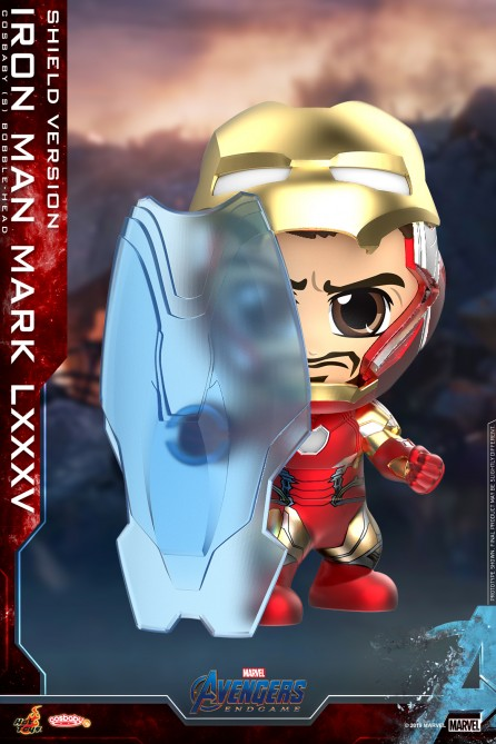 Hot Toys COSB649 Iron Man Mark LXXXV (Shield Version) Cosbaby (S) Bobble-Head