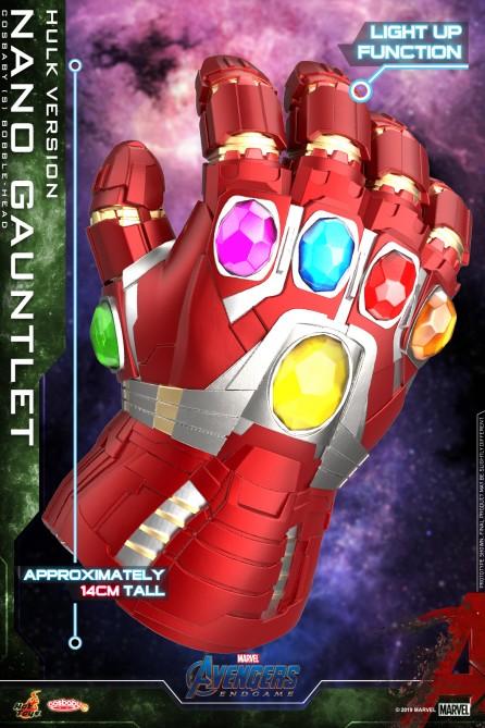 Hot Toys COSB647 Nano Gauntlet (Hulk Version) Cosbaby (S) Bobble-Head