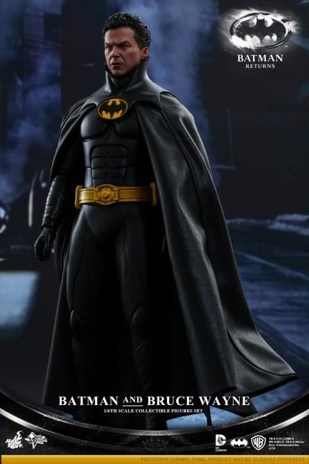 Hot Toys 1/6th Scale Batman Returns Batman & Bruce Wayne Collectible Figures Set