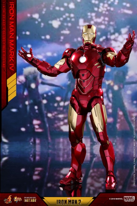 Hot Toys 1/6th Scale MMS461D21 Iron Man 2 Mark IV Collectible Figure