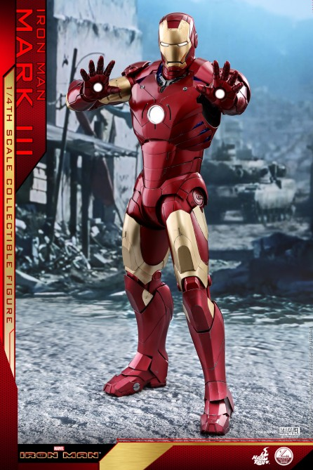 Hot Toys 1/4th Scale QS011 Iron Man Mark III Collectible Figure