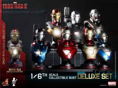 Hot Toys 1/6th Scale Iron Man 3 Collectible Bust Set