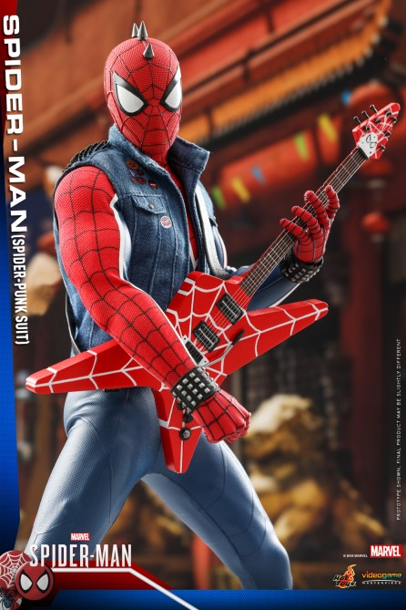 Hot Toys 1/6th Scale VGM32 Marvel's Spider-Man (Spider-Punk Suit) Collectible Figure