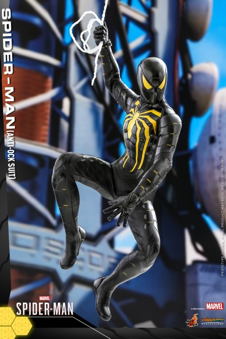 Hot Toys 1/6th Scale VGM44 Marvel's Spider-Man (Anti-Ock Suit) Collectible Figure