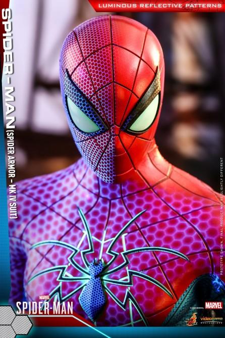 Hot Toys 1/6th Scale VGM43 Marvel's Spider-Man - Spider-Man (Spider Armor - MK IV Suit) Figure
