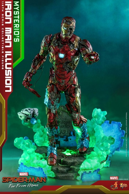 Hot Toys 1/6th Scale MMS580 Spider-Man: Far From Home Mysterio's Iron Man Illusion Collectible Figure