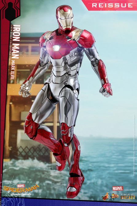 Hot Toys 1/6th Scale MMS427D19 Spider-Man: Homecoming Mark XLVII Collectible Figure (Reissue)
