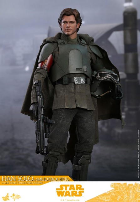 Hot Toys 1/6th Scale MMS493 Solo: A Star Wars Story Han Solo (Mudtrooper) Figure