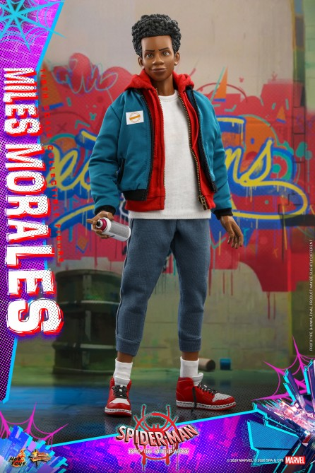 Hot Toys 1/6th Scale MMS567 Spider-Man: Into the Spider-Verse Miles Morales Collectible Figure