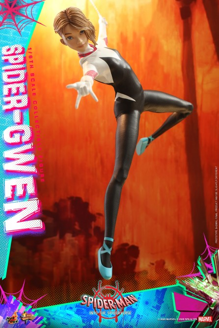 Hot Toys 1/6th Scale MMS576 Spider-Man: Into the Spider-Verse Spider-Gwen Collectible Figure