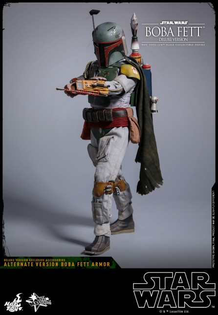 Hot Toys 1/6th Scale MMS464 Star Wars: Episode V The Empire Strikes Back Boba Fett (Deluxe Version)