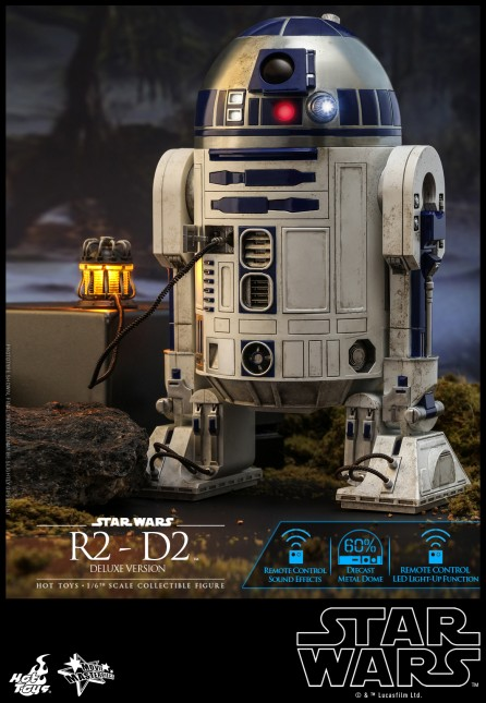 Hot Toys 1/6th Scale MMS511 Star Wars R2-D2 Deluxe Version Collectible Figure
