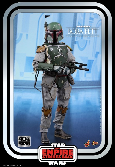 Hot Toys 1/6th Scale MMS574 Star Wars: The Empire Strikes Back Boba Fett Collectible Figure (40th Anniversary Collection)
