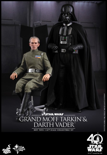 Hot Toys 1/6th Scale MMS434 Star Wars: Episode IV A New Hope Grand Moff Tarkin & Darth Vader Set