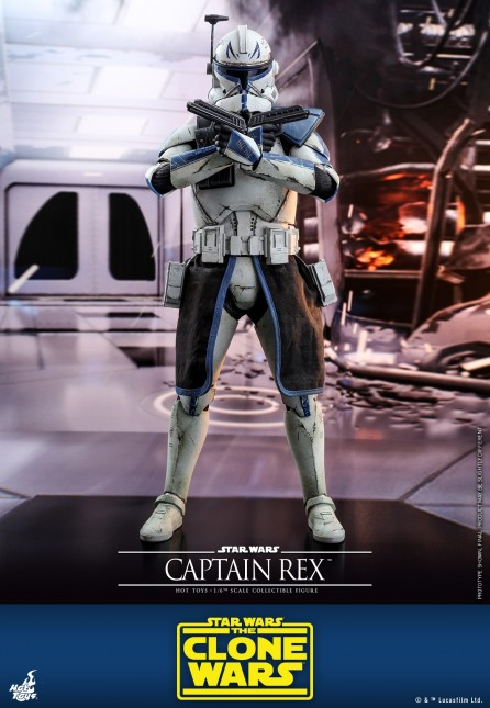 Hot Toys 1/6th Scale TMS018 Star Wars: The Clone Wars Captain Rex Collectible Figure
