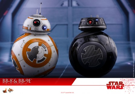 Hot Toys 1/6th Scale MMS442 Star Wars: The Last Jedi BB-8 & BB-9E Collectible Set