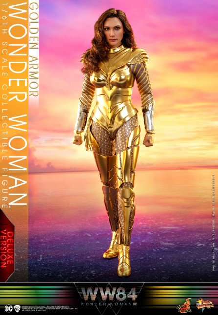 Hot Toys 1/6th Scale MMS578 Wonder Woman 1984 Golden Armor Wonder Woman Collectible Figure (Deluxe Version)