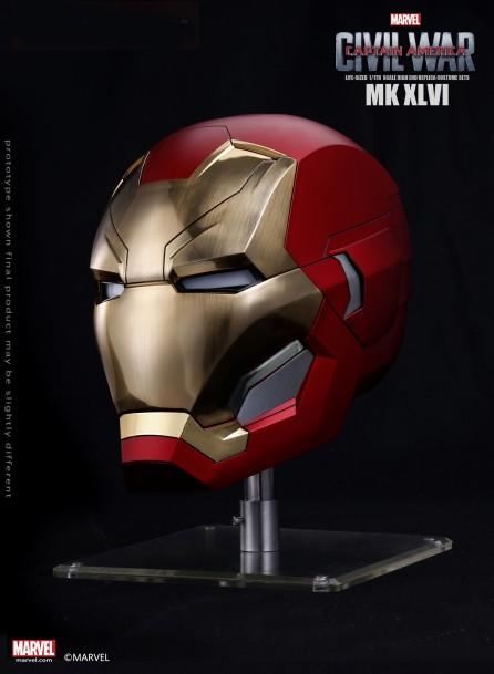 Marvel 1:1 Scale Iron Man MK46 Helmet (Metal Brushed Version)