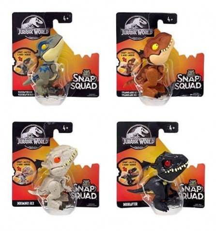 Mattel Jurassic World Snap Squad Mini Figures Set of 4 (Wave 1)