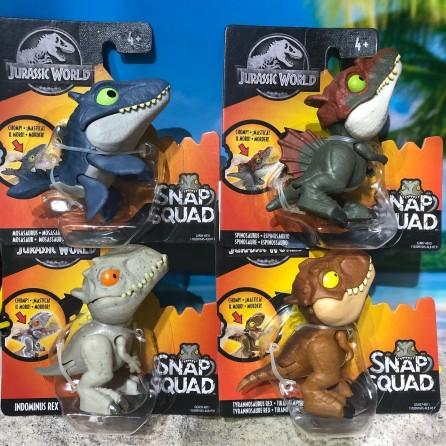 Mattel Jurassic World Snap Squad Mini Figures Set of 4 (Wave 4)