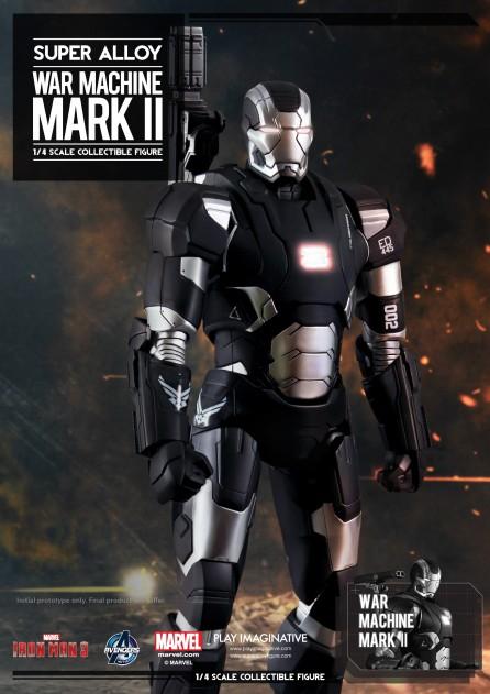 Super Alloy 1/4th Scale Iron Man 3 War Machine Mark II Figure