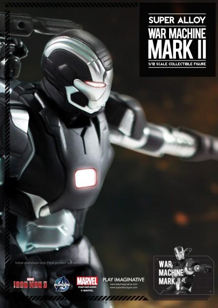Super Alloy 1/12 Scale Iron Man 3 War Machine Mark II Figure