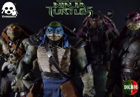 ThreeZero 1/6th Scale TMNT Movie Set of 4: Michelangelo, Donatello, Raphael and Leonardo