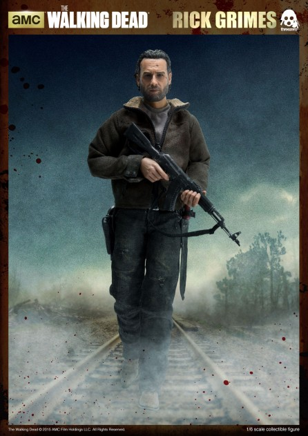 ThreeZero 1/6th Scale The Walking Dead Rick Grimes Figure