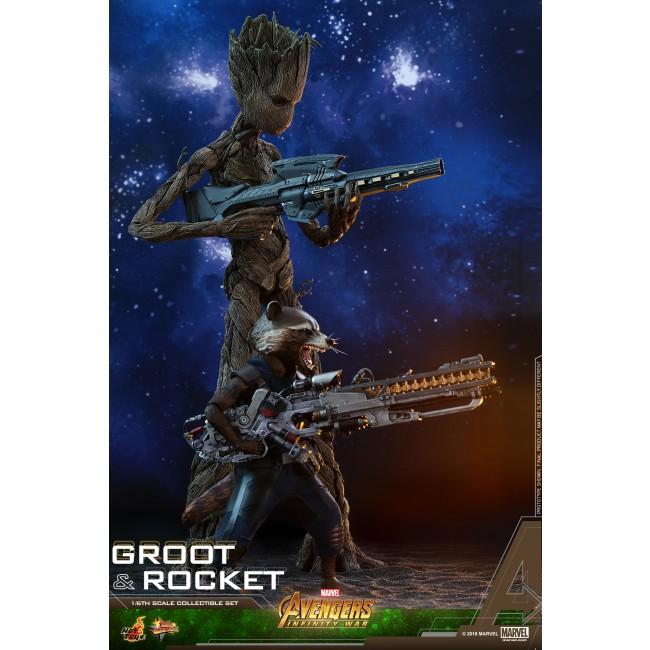 Infinity War 1//6 Groot Figure Ready Hot Toys MMS475 Avengers